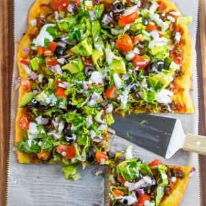 Fat Head Taco Pizza