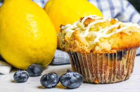 Keto Lemon Blueberry Muffins