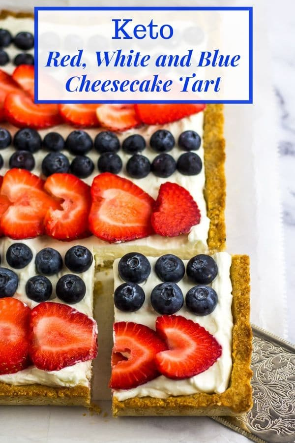 Low Carb 4th of July Tart