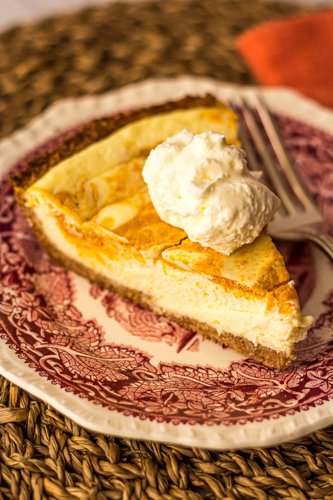 Low Carb Pumpkin Cheesecake Pie