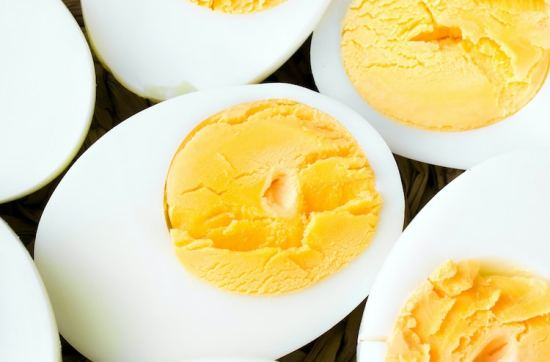 Perfect hard boiled eggs sliced