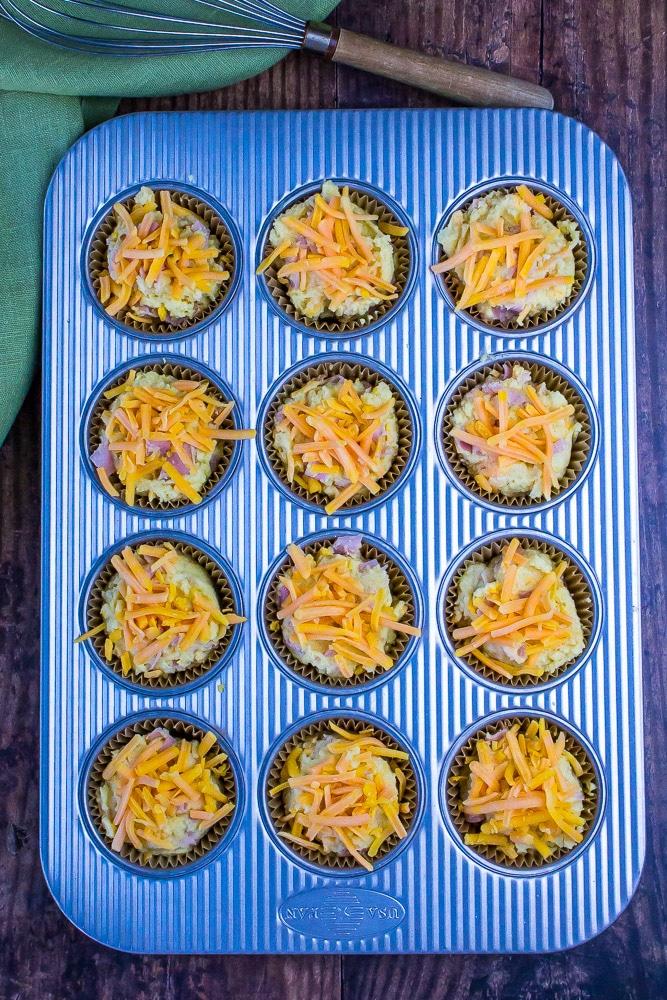 Keto Ham & Cheese Muffins