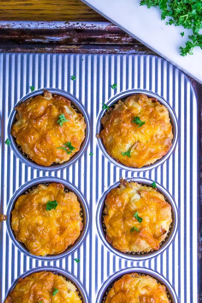 YUM! Keto Ham & Cheese Muffins