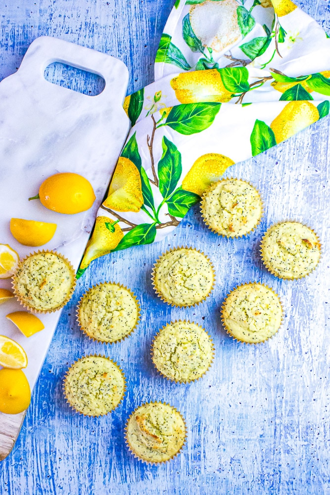 Low Carb Lemon Poppy Seed Muffins