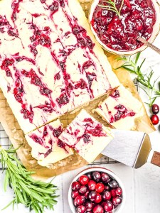 Keto Cranberry Cheesecake Bars