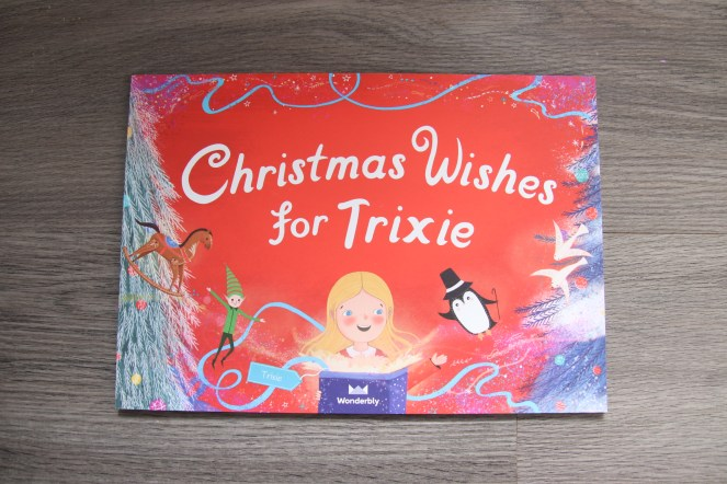Personalised Christmas wishes for trixie with Red cover