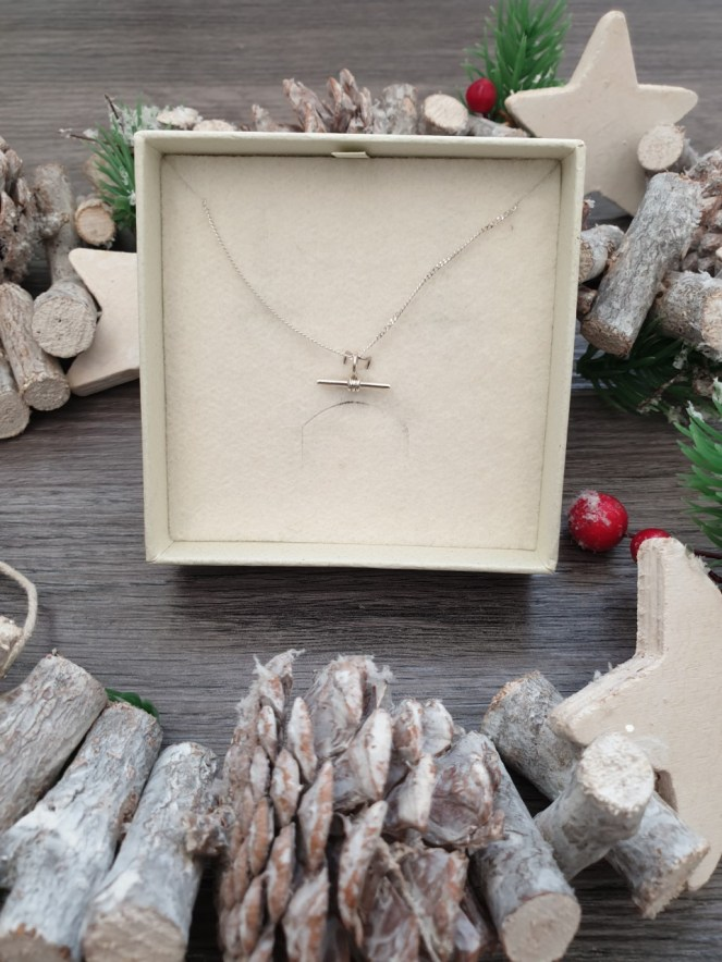 Wolf & Gypsy Ethically made Jewellery piece, T-Bar Necklace.