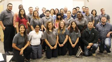 A group photo of the attendees at one of the monthly Las Vegas YMF luncheons/technical presentation.