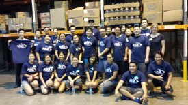 Hawaii YMF helps to sort tons of donated food at the National Association of Letter Carriers Food Drive each year