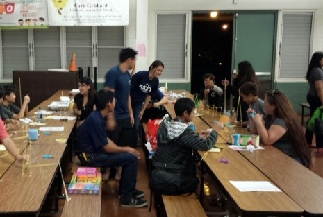 Hawaii YMF leading engineering-related activities for elementary/intermediate school students