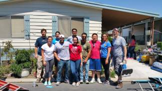 Habitat for Humanity: Repainting a Mobile Home