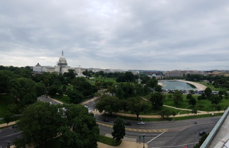 The view of the Capitol from the GR office