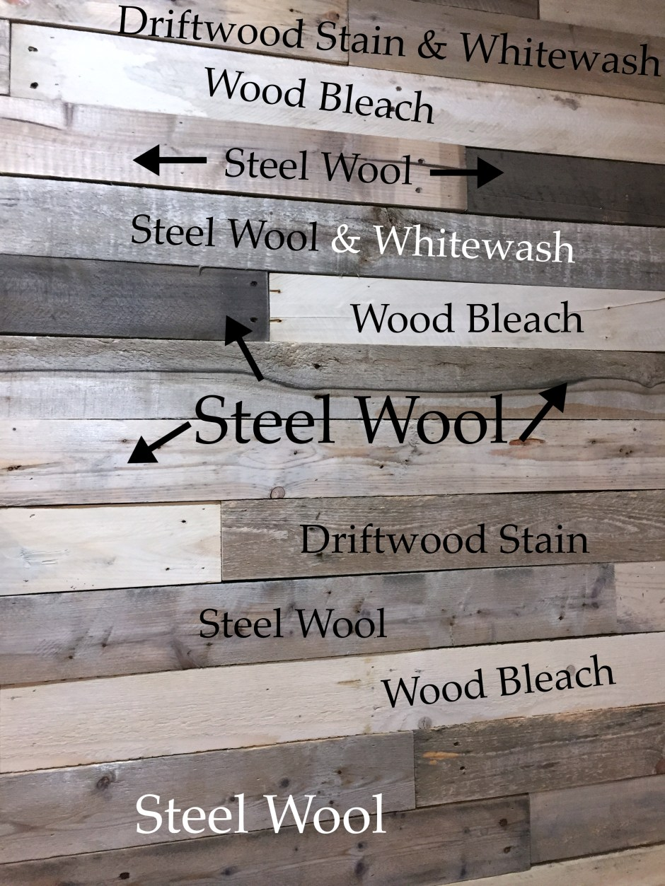 Build Wood Pallet Wall- make new wood look old, aged, weathered, distressed
