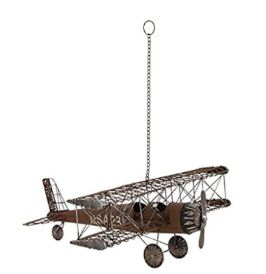 Deco 79 Metal Airplane, 22 by 9-Inch