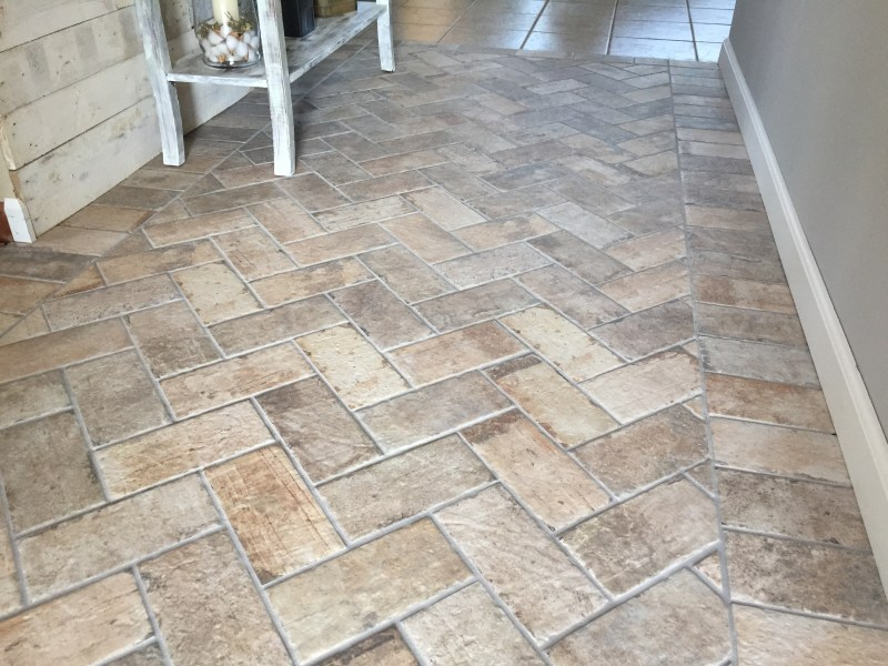 Foyer Accent Floor   Chicago South Side Porcelain Brick Tile   The     Chicago South Side Porcelain Brick Tile