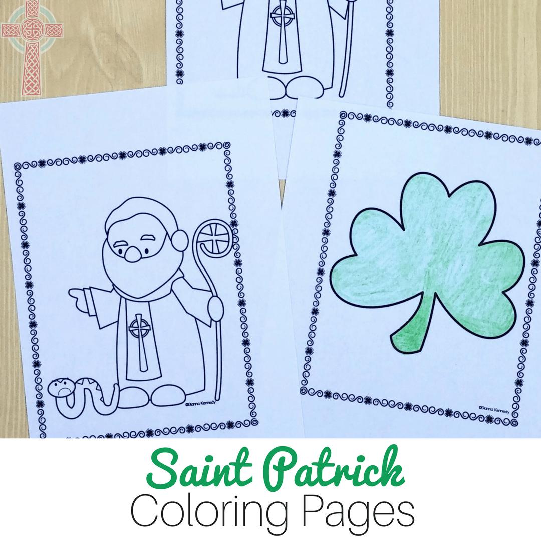 Saint Patrick Coloring Pages For Catholic Kids