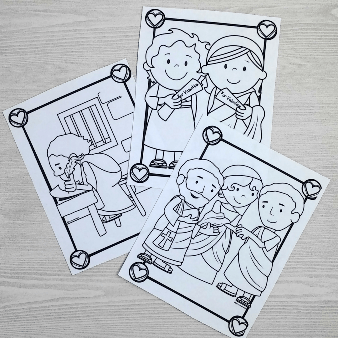 Saint Valentine Coloring Pages For Catholic Kids