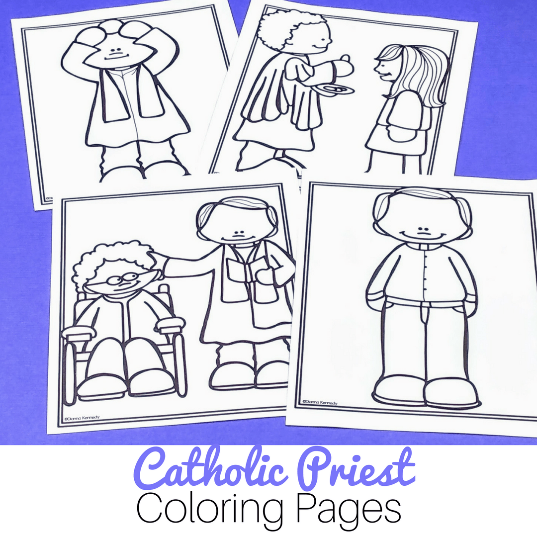 Priest Coloring Pages For Catholic Kids