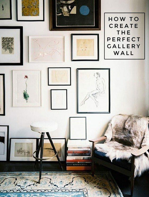 the perfect gallery wall, how to hang the perfect gallery wall, thursday things, link round up, best of the internet