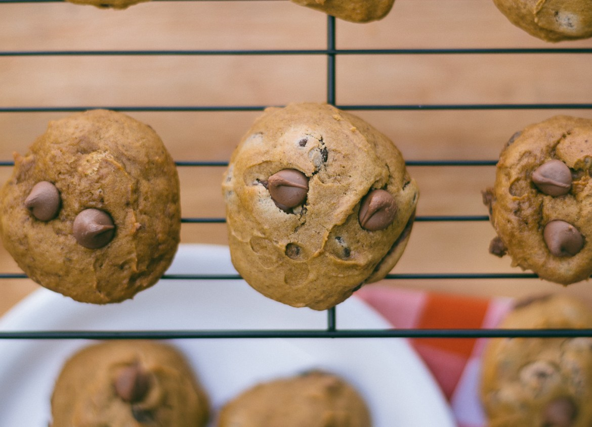 cookie recipes, how to bake, fall baking tips, pumpkin cookies, chocolate chip cookies