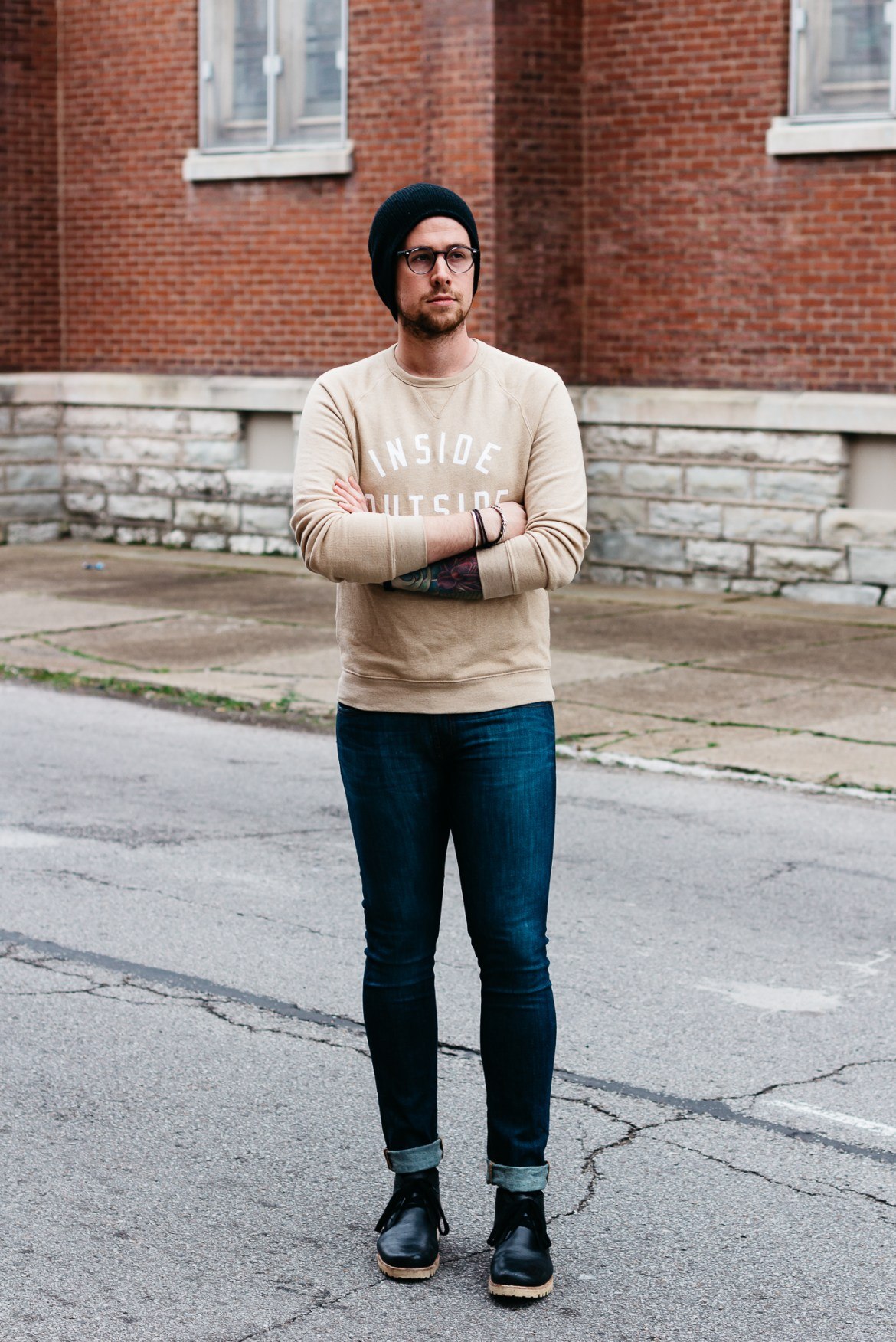 mens graphic sweatshirt, j brand jeans, how to wear sweatshirt and jeans, mens lifestyle blogger, mens fashion blog