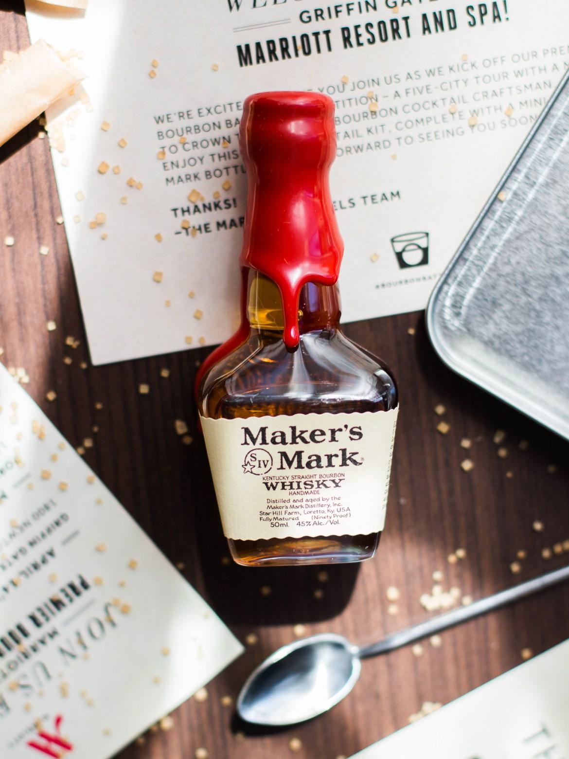 bourbon battles, makers mark barrel select, marriott griffin gate, lexington hotels, the kentucky gent