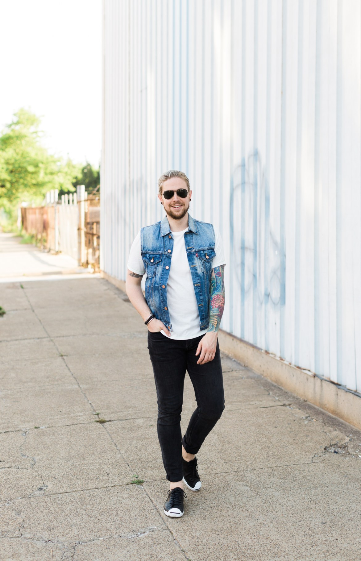 the kentucky gent, mens fashion blog, levis denim vest, gay bloggers, hm mens denim
