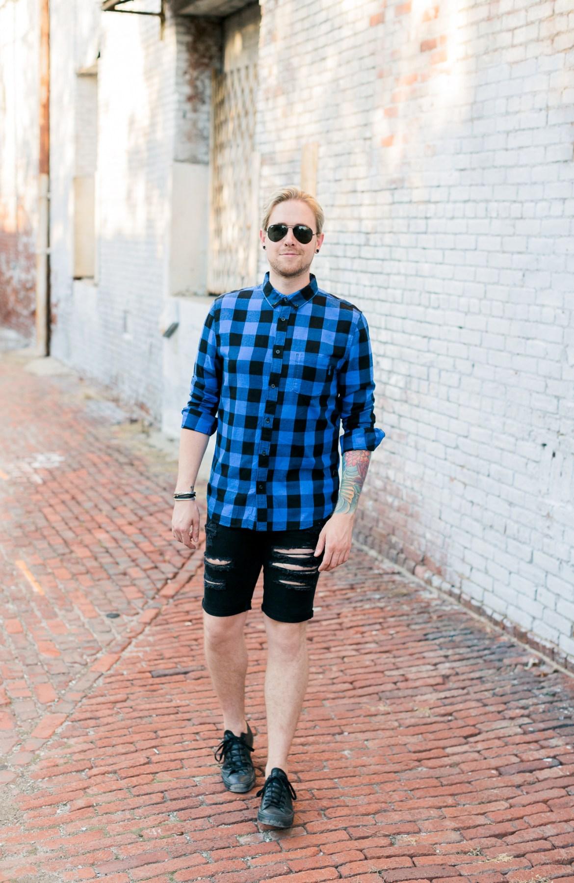 mens hm shorts, black denim shorts, mens denim shorts, mens style style, kentucky blog