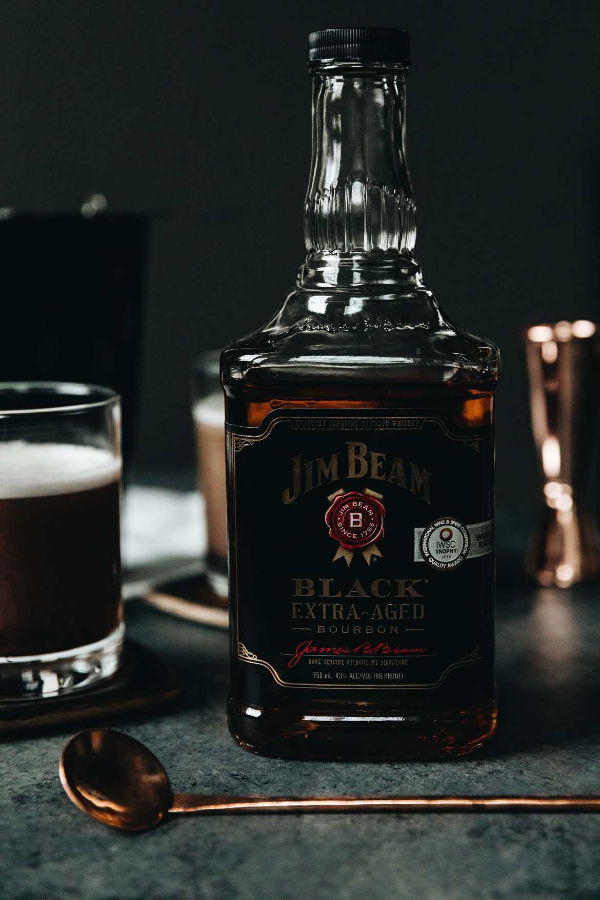 jim beam black bottle