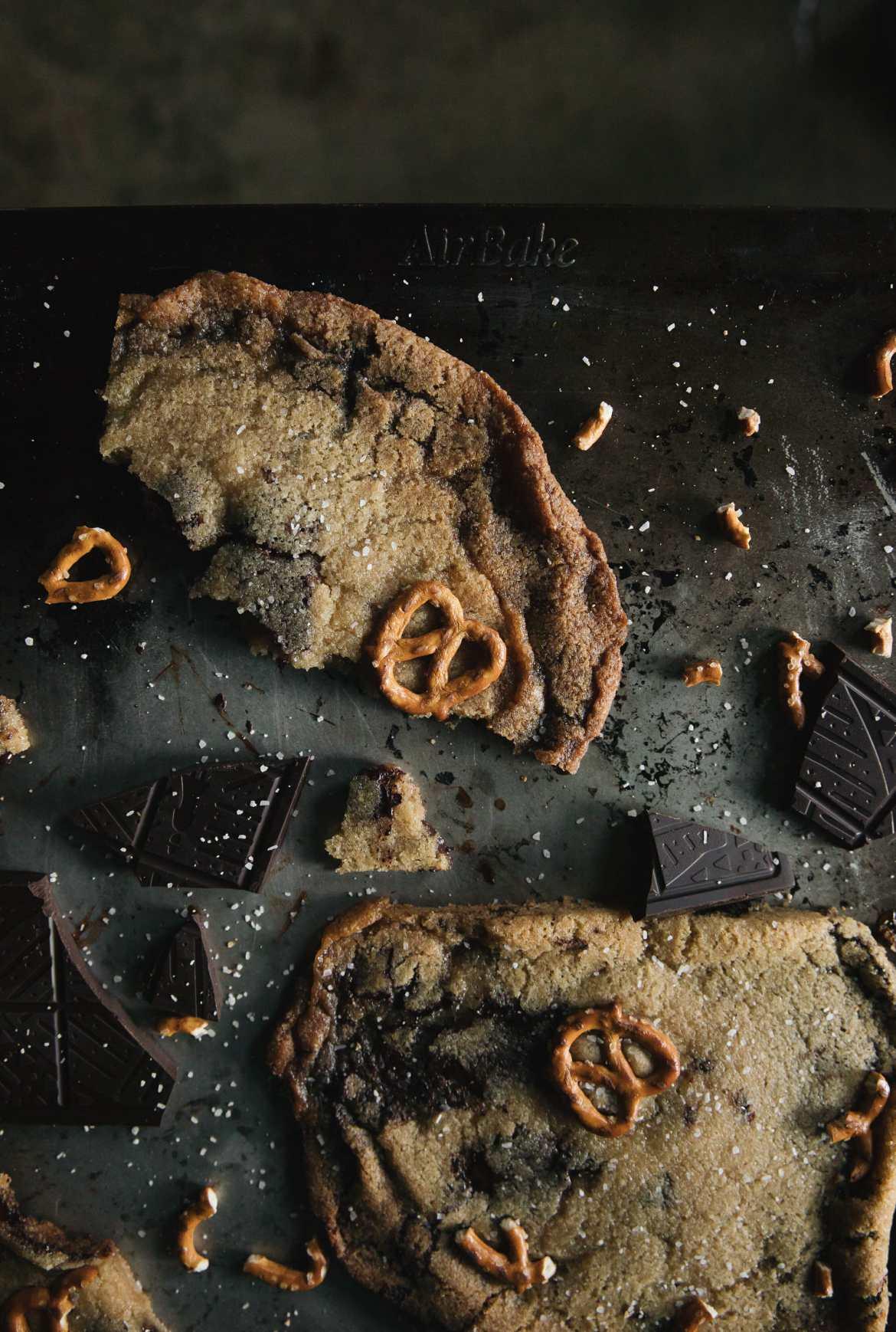 loaded chocolate chunk cookies