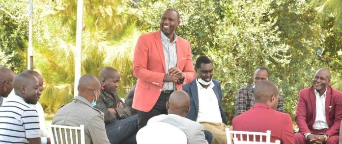 William Ruto with a scetion of Maa Leaders