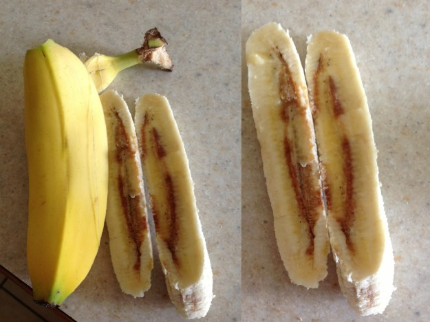 What in the WORLD happened to these seemingly NORMAL bananas?  This ain't right.  It just ain't right.