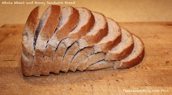 Freshly sliced bread. This is only half a loaf though, since the other half was quickly and savagely consumed.