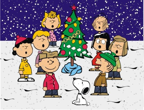 A Charlie Brown Christmas scene.