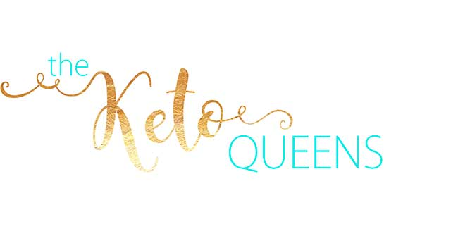 the keto queens logo blue and gold