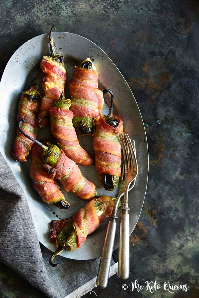 Keto Bacon-Wrapped Cheese-Stuffed Jalapeno Poppers