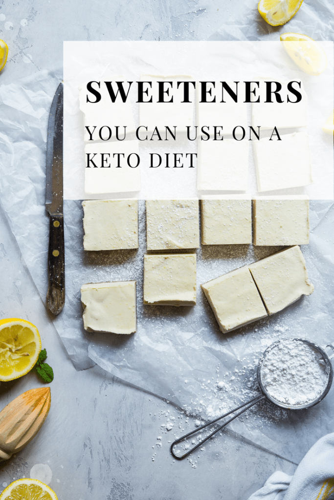 What sweeteners can you use on a keto diet. Picture of sweets made with artificial sweeteners.