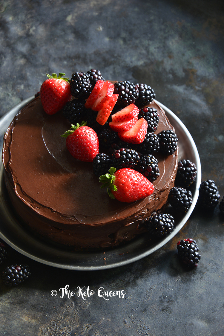 keto chocolate birthday cake made in the instant pot