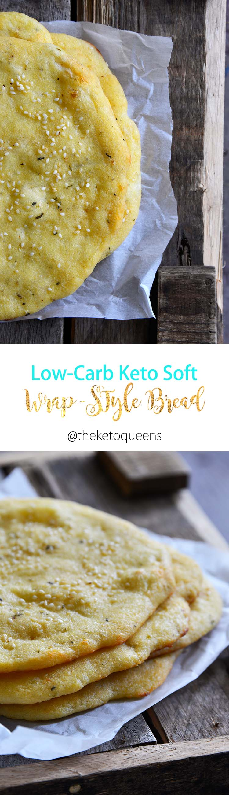 Yes, you can eat WRAPS on keto! This Keto Wrap-Style Soft Tortilla Flatbread is perfect for making into sandwiches or quick pizzas for an easy, delicious meal! #keto #lowcarb #lchf