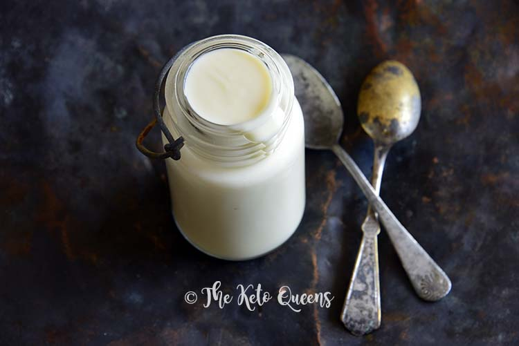 Low Carb Keto Sweetened Condensed Milk Close Up