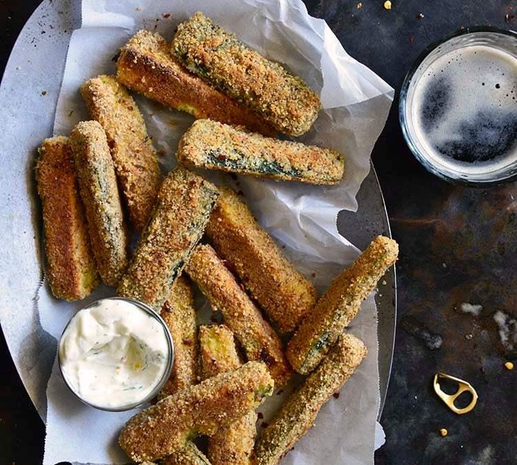 Low-Carb Keto Crispy Baked Zucchini Fries