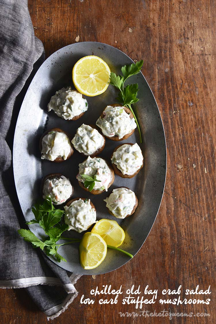 Chilled Old Bay Crab Salad Low Carb Stuffed Mushrooms with Description