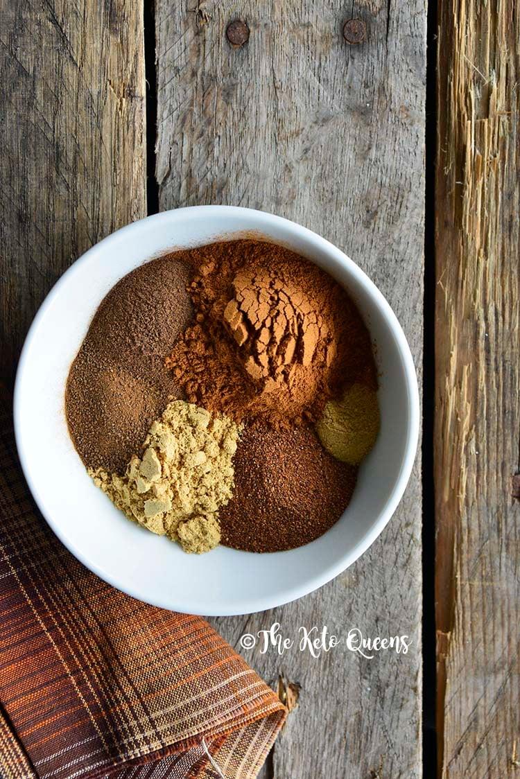Spices in Pumpkin Spice Mix