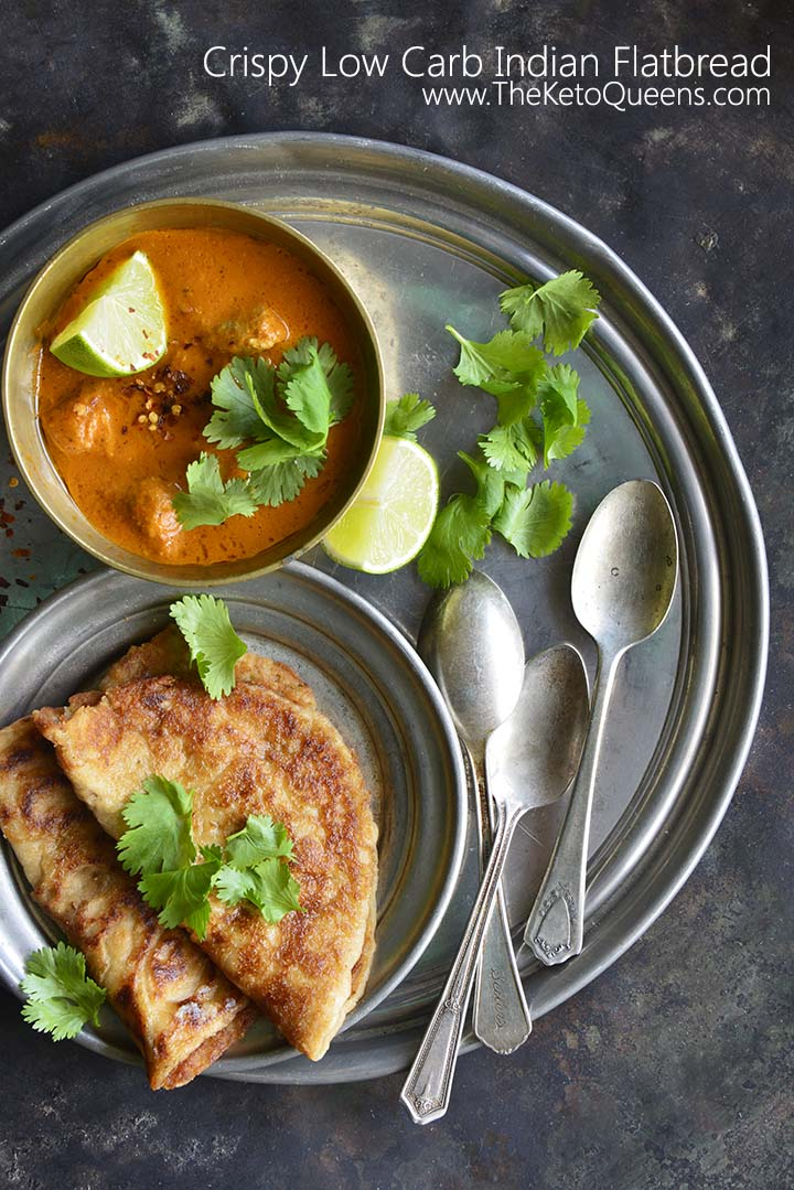 Crispy Low Carb Indian Flatbread with Description