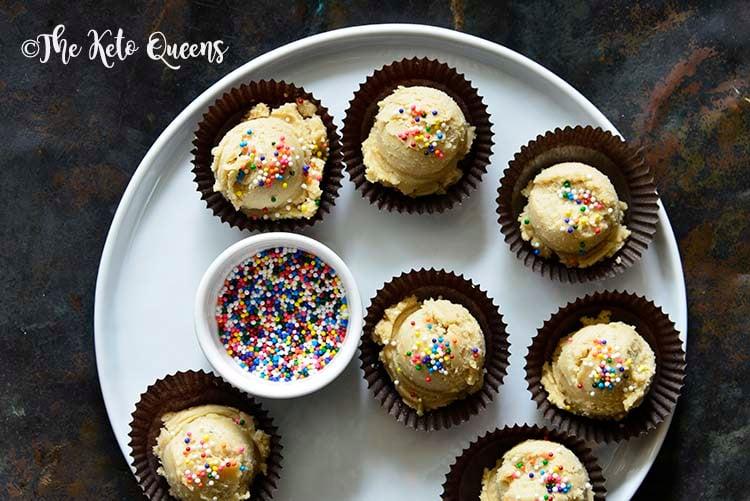 Keto Edible Sugar Cookie Dough Fat Bombs Recipe