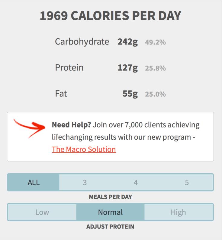 healthy eater macro calculator