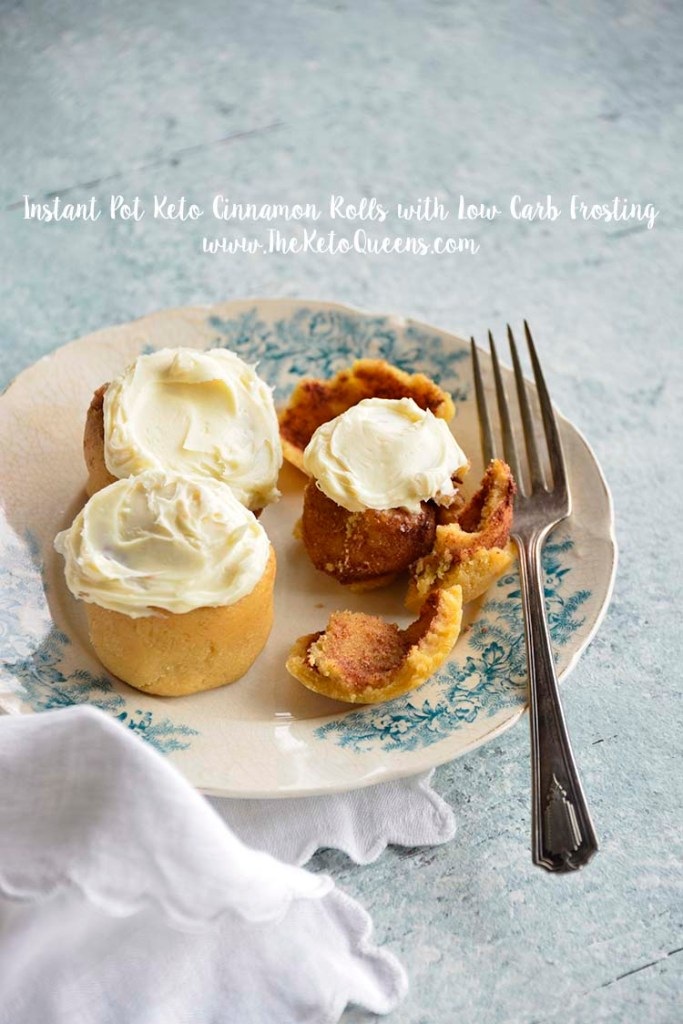 Instant Pot Keto Cinnamon Rolls are great for lazy Sunday mornings. Sweet with delicious keto icing, you'd think these are too good to be true!