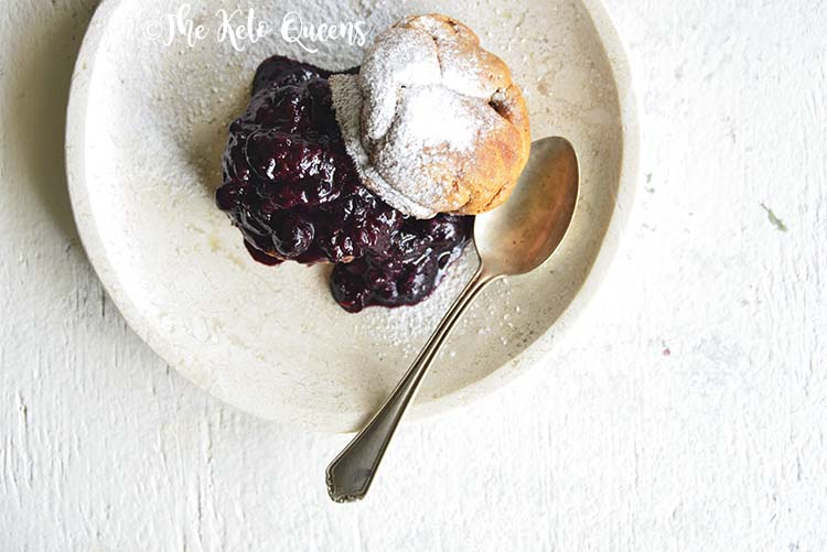 Low Carb Brioche Bread withHomemade Blueberry Sauce