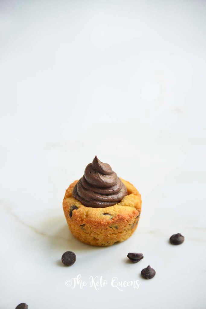 1 Chocolate Chip Cookie Cups with Chocolate Buttercream frosting