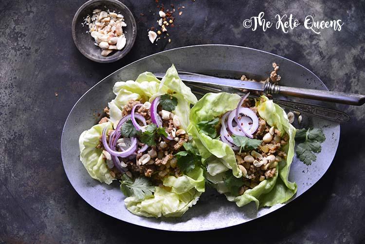 Thai Turkey Lettuce Wraps – Low Carb & Gluten Free